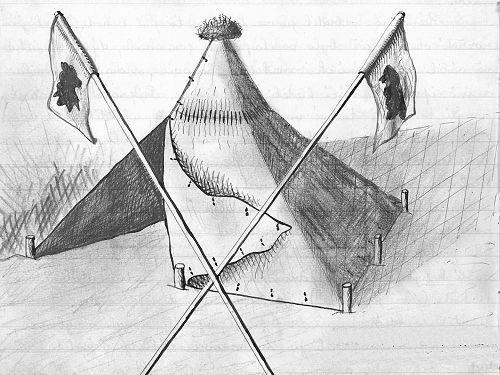Ilustrace z Knihy výletů komárovského oddílu